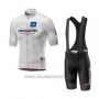 2019 Cycling Jersey Giro D'italy White Short Sleeve and Bib Short