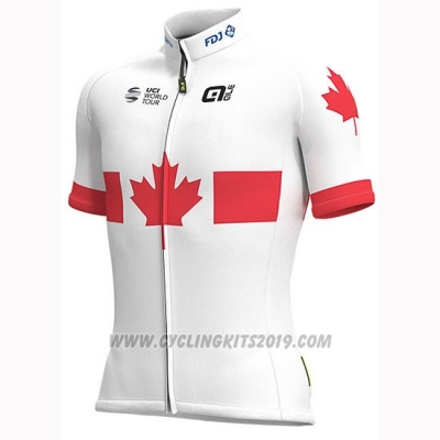 2019 Cycling Jersey Groupama FDJ Champion Canada Short Sleeve and Bib Short