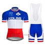 2019 Cycling Jersey Kolss Champion France Short Sleeve and Bib Short