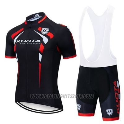 2019 Cycling Jersey Kuota Black Red Short Sleeve and Bib Short