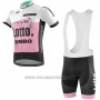 2019 Cycling Jersey Lotto NL-Jumbo Pink White Short Sleeve and Bib Short
