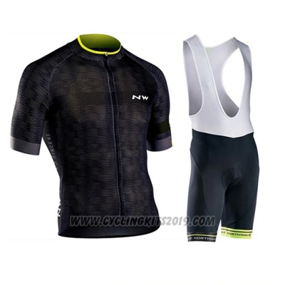 2019 Cycling Jersey Northwave Black Short Sleeve and Bib Short