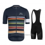 2019 Cycling Jersey Paul Smith Rapha Dark Azul Short Sleeve and Bib Short