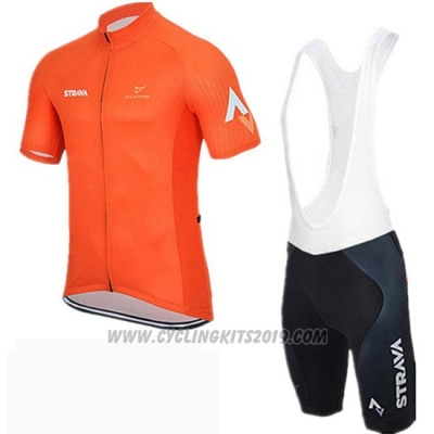 2019 Cycling Jersey Rally Orange Short Sleeve and Bib Short