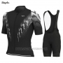 2019 Cycling Jersey Rapha Black White Short Sleeve and Bib Short