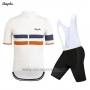 2019 Cycling Jersey Rapha White Orange Short Sleeve and Bib Short