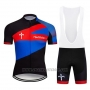 2019 Cycling Jersey Wilier Black Red Blue Short Sleeve and Bib Short