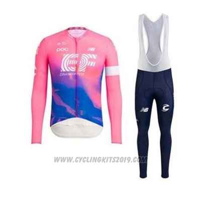 2020 Cycling Jersey EF Education First Pink Long Sleeve and Bib Tight