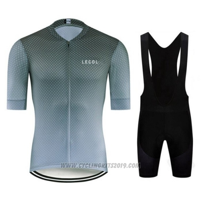 2020 Cycling Jersey Le Col Dark Green Short Sleeve and Bib Short