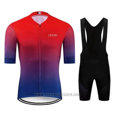 2020 Cycling Jersey Le Col Red Blue Short Sleeve and Bib Short