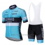 2020 Cycling Jersey Leopard Natural Blue Black Short Sleeve and Bib Short