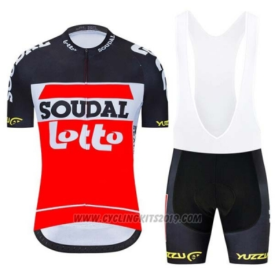 2020 Cycling Jersey Lotto Soudal Black White Red Short Sleeve and Bib Short