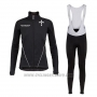 2020 Cycling Jersey Wieiev Black Long Sleeve and Bib Tight