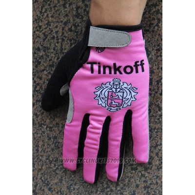 2020 Tinkoff Full Finger Gloves Pink