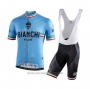 2021 Cycling Jersey Bianchi White Short Sleeve and Bib Short