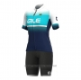 2021 Cycling Jersey Women ALE Light Blue Short Sleeve and Bib Short