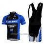 2011 Cycling Jersey Giant Blue and Black Short Sleeve and Bib Short