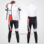 2012 Cycling Jersey Pinarello Red and White Long Sleeve and Bib Tight