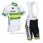 2013 Cycling Jersey Australia White and Green Short Sleeve and Bib Short