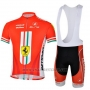 2013 Cycling Jersey Ferrari White and Red Short Sleeve and Bib Short