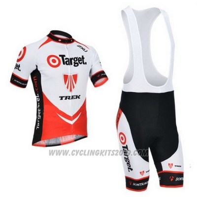 2013 Cycling Jersey Trek Red and White Short Sleeve and Bib Short