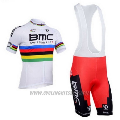2013 Cycling Jersey UCI Mondo Campione BMC Short Sleeve and Bib Short