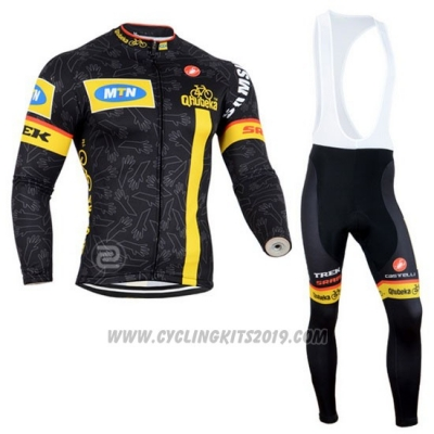 2014 Cycling Jersey MTN Black and Yellow Long Sleeve and Bib Tight