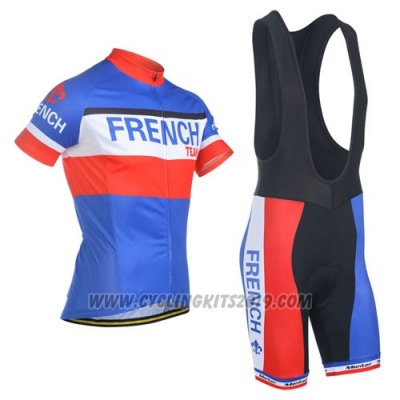 2014 Cycling Jersey Monton Campione Francese Short Sleeve and Bib Short