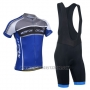 2014 Cycling Jersey Monton Gray and Blue Short Sleeve and Bib Short