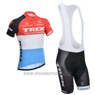2014 Cycling Jersey Trek Factory Racing Orange and White Short Sleeve and Bib Short