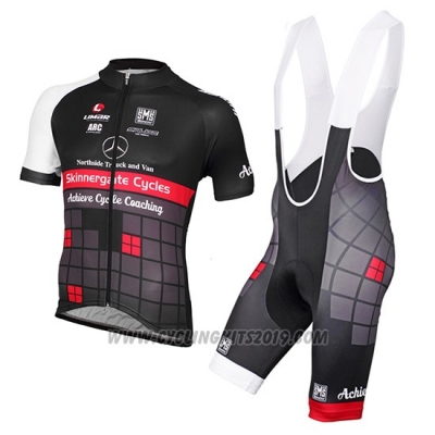 2015 Cycling Jersey Achieve Black Short Sleeve and Bib Short