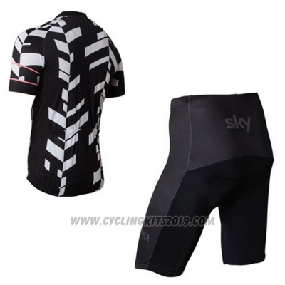 2015 Cycling Jersey Rapha White and Black 1 Short Sleeve and Bib Short