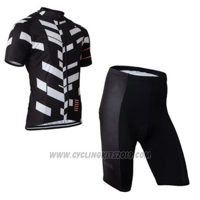 2015 Cycling Jersey Rapha White and Black Short Sleeve and Bib Short