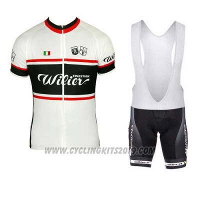 2015 Cycling Jersey Wieiev Black and White Short Sleeve and Bib Short