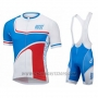 2016 Cycling Jersey Pink White and Blue Short Sleeve and Bib Short