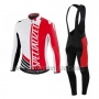 2016 Cycling Jersey Specialized Ml Red Black Long Sleeve and Bib Tight