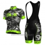 2017 Cycling Jersey ALE Camuffamento and Green Short Sleeve and Bib Short