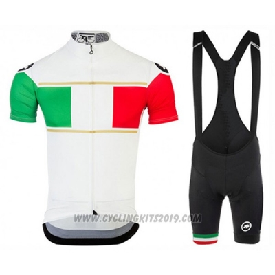 2017 Cycling Jersey Assos Campione Italy Short Sleeve and Bib Short
