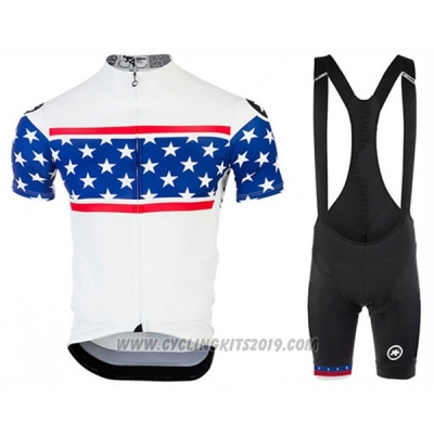2017 Cycling Jersey Assos Campione The United States Short Sleeve and Bib Short
