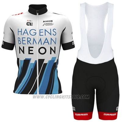 2017 Cycling Jersey Axeon Hagens Berman White and Black Short Sleeve and Bib Short