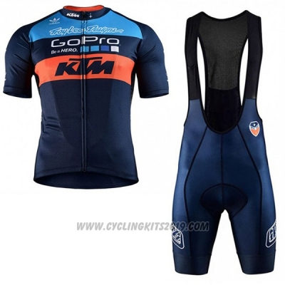 2017 Cycling Jersey Ktm Blue Short Sleeve and Salopette