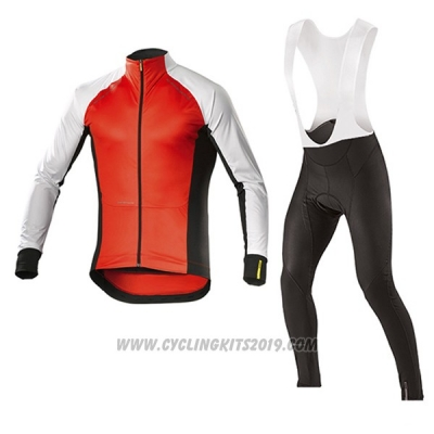 2017 Cycling Jersey Mavic Long Sleeve and Bib Tight White and Orange Short Sleeve and Bib Short