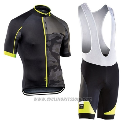 2017 Cycling Jersey Northwave Blade Black Short Sleeve and Bib Short