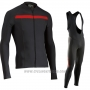 2017 Cycling Jersey Northwave Ml Black Long Sleeve and Bib Tight