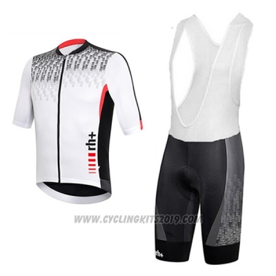 08875d37e 2017 Cycling Jersey RH+ Gray and White Short Sleeve and Bib Short