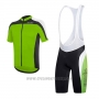 2017 Cycling Jersey RH+ Green Short Sleeve and Bib Short