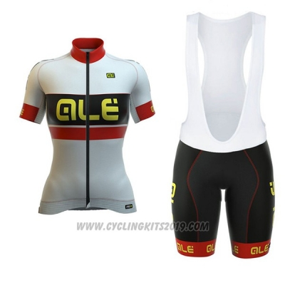 2017 Cycling Jersey Women ALE Graphics Prr Bermuda White Short Sleeve and Bib Short