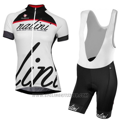 2017 Cycling Jersey Women Nalini Classic White Short Sleeve and Bib Short