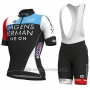 2018 Cycling Jersey Axeon PRS Black Red Short Sleeve and Salopette