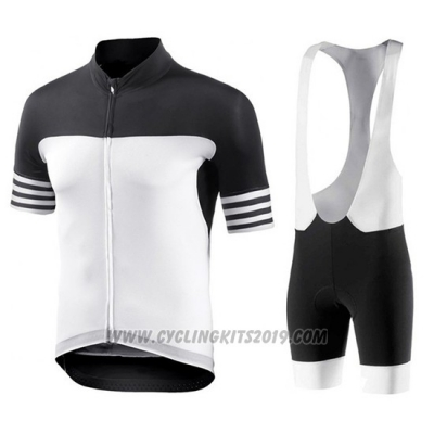 2018 Cycling Jersey Bianchi Black and White Short Sleeve and Bib Short